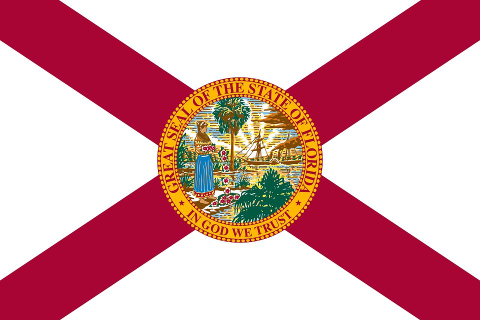 flat florida state flag - usa