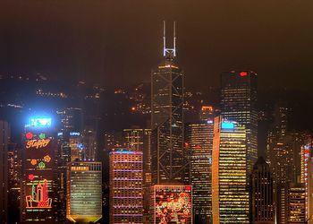Hong Kong skyline during Christmas