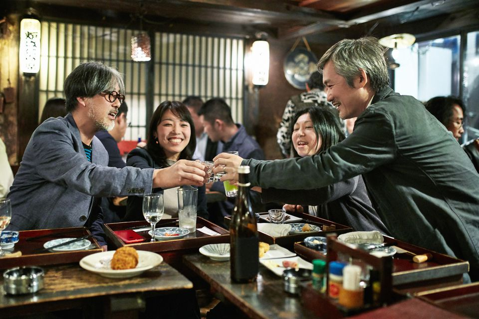 Japanese Couples Toasting at Tokyo Sushi Bar and Restaurant