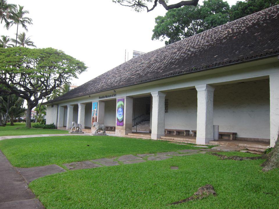 Honolulu Museum of Art entrance veranda
