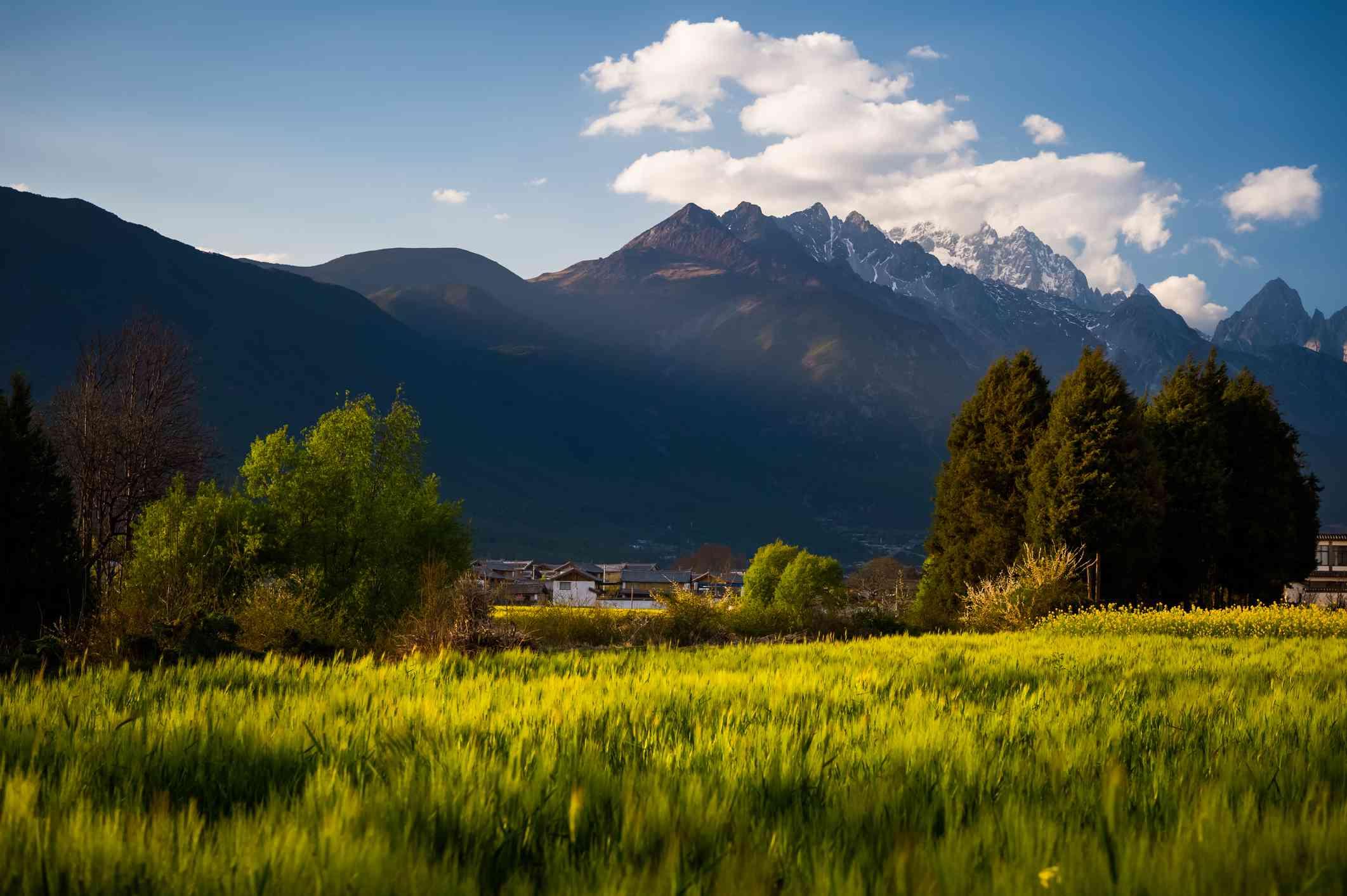 rural scenic in Lijiang countryside, yunnan province, china