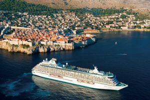 Crystal cruise ship in Dubrovnik, Croatia