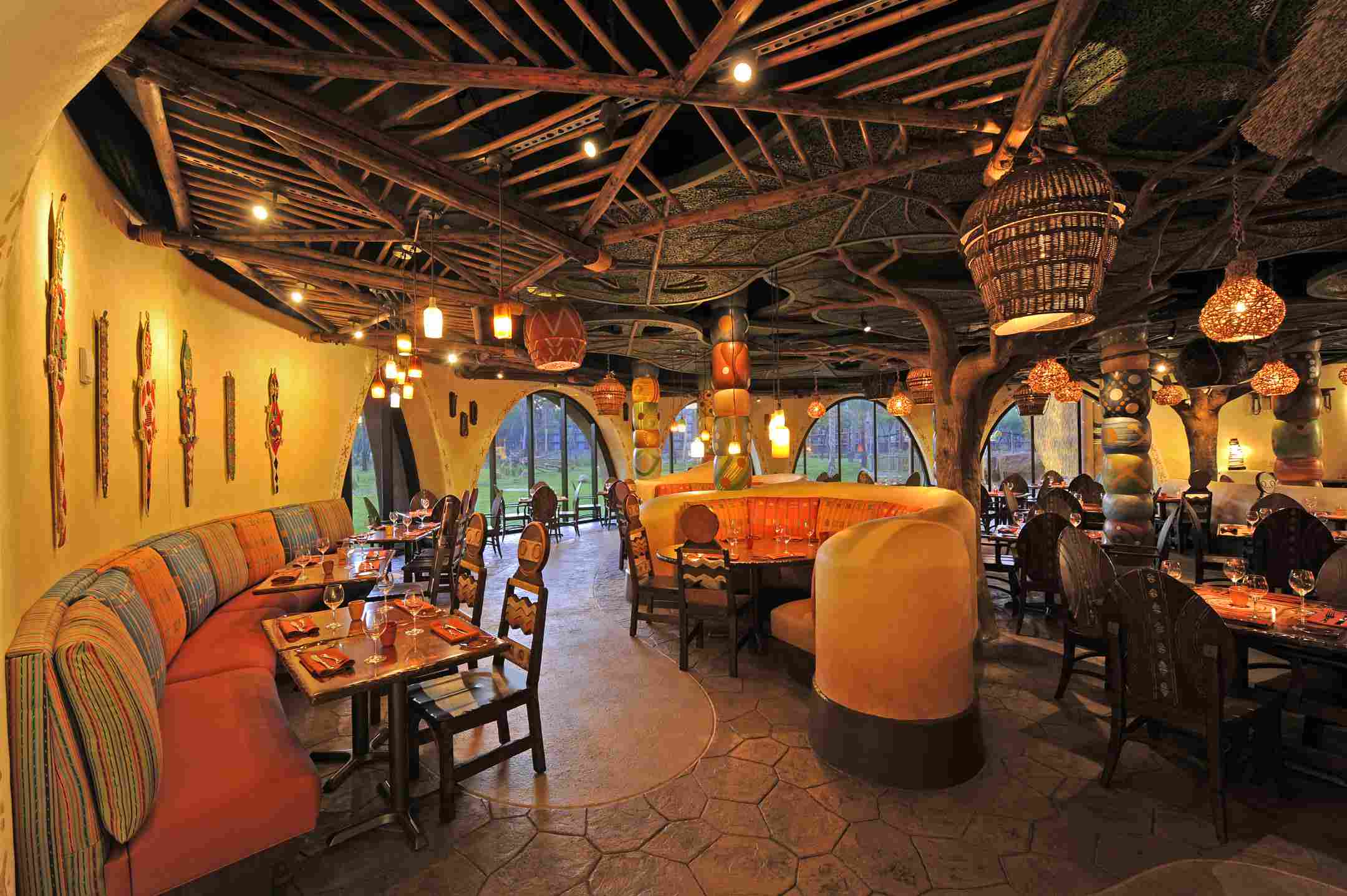 Cenando en Disney's Animal Kingdom