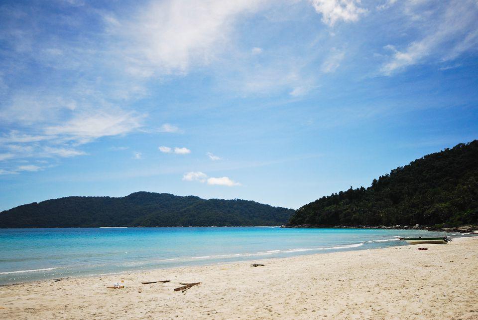 playas de arena blanca en las islas Perhentian