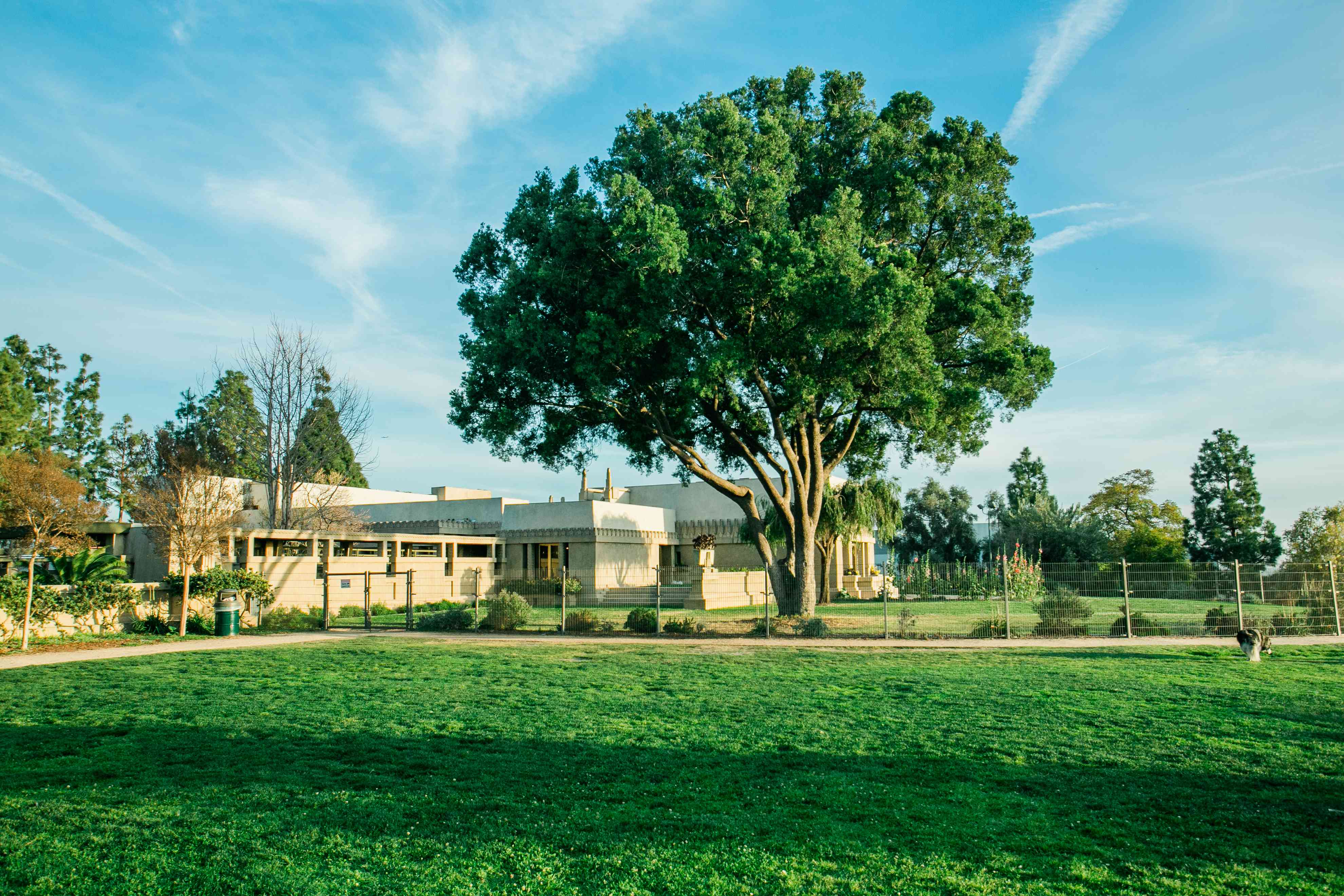 The Hollyhock House in Los Angeles, CA