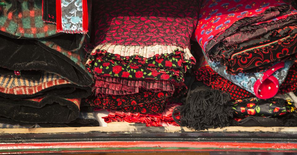 Folded Traditional Clothing, Szék, Transylvania