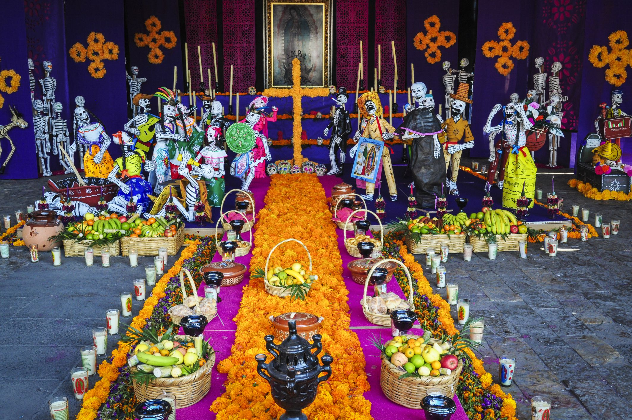 A Day of the Dead Altar at the Basilica of the Virgin Guadalupe