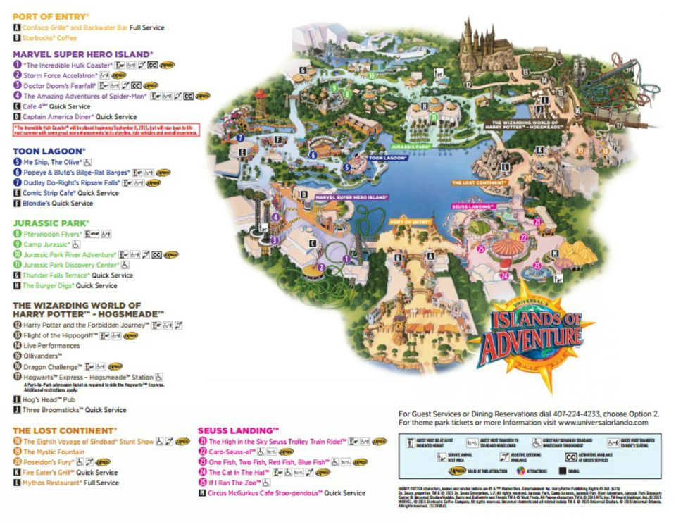 Universal Studios Islands Of Adventure Map Maps of Universal Orlando Resort's Parks and Hotels Universal Studios Islands Of Adventure Map
