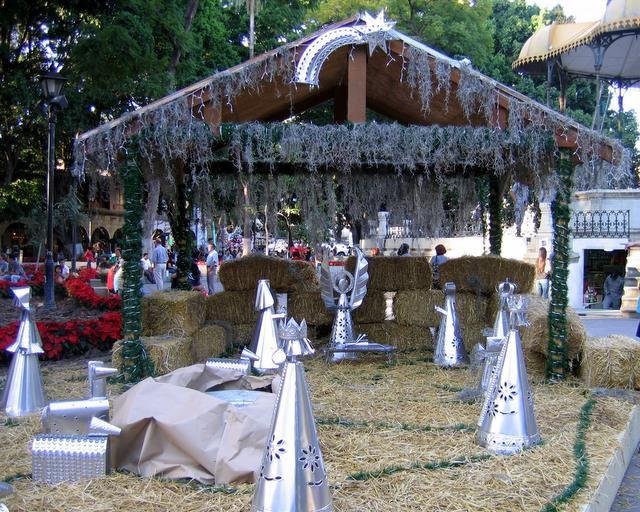 Tin Nativity Scene