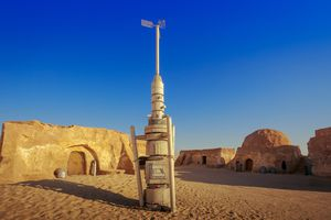 Abandoned Star Wars film set in the Sahara Desert, Tunisia