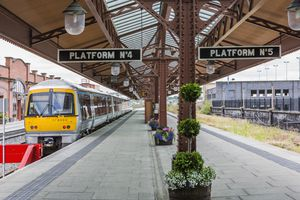 A platform of Birmingham Moor Street station