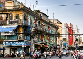 Street view and traffic in Ho Chi Minh City