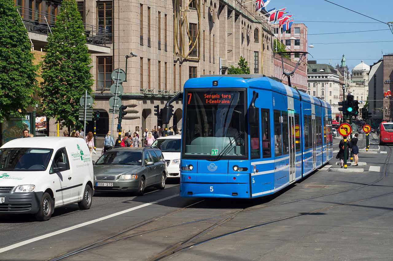 A streetcar in Stockholm, Sweden