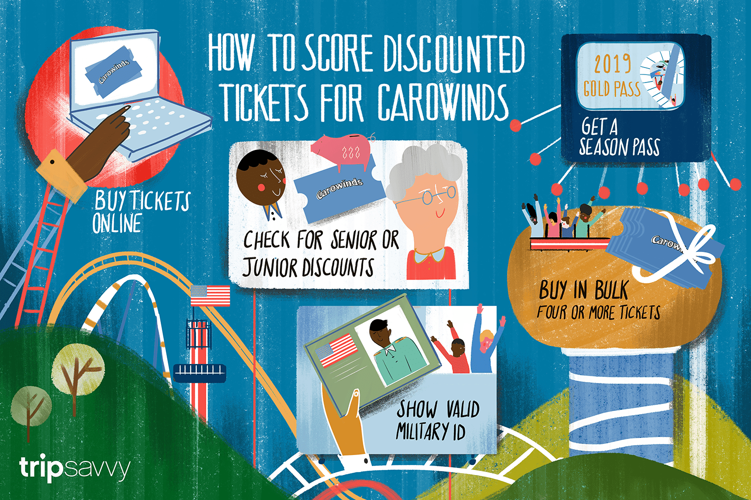 Discounts on Carowinds Theme Park Tickets
