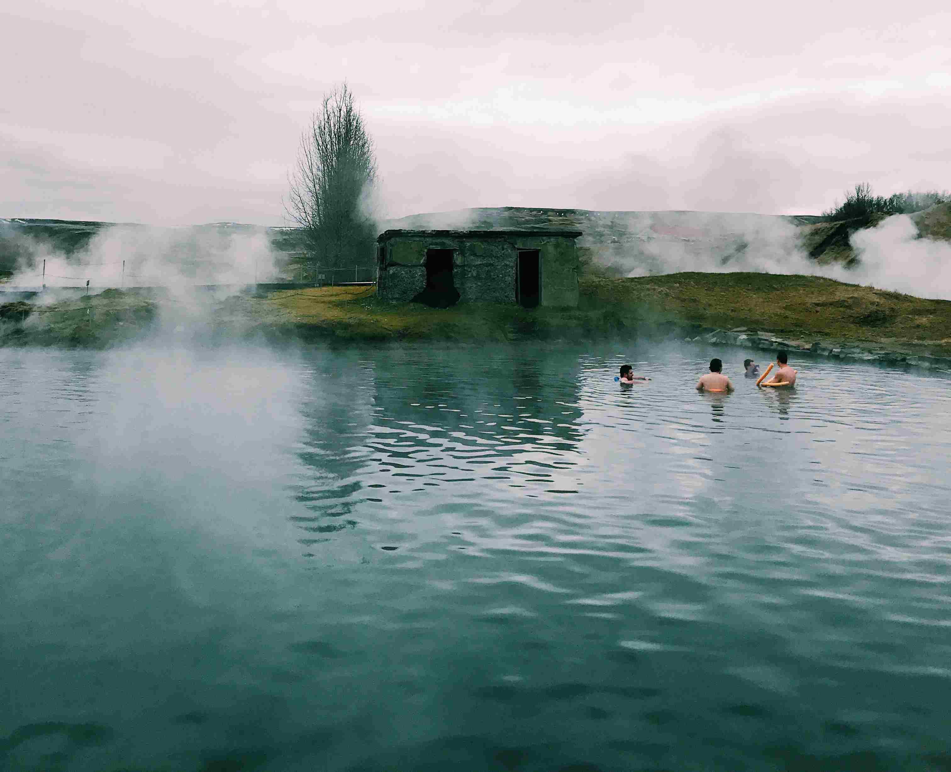 Laguna secreta en el sur de Islandia