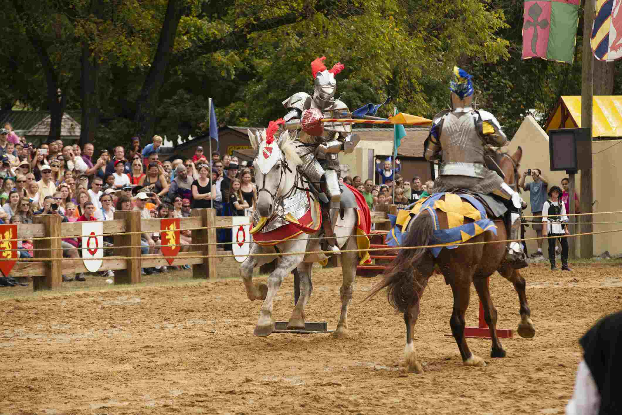 Jousters perform at the Maryland Renaissance Festival