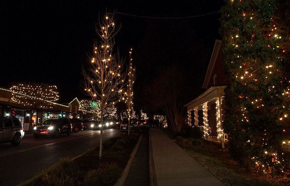 downtown christmastown usa mcadenville north carolina on december 12 2014