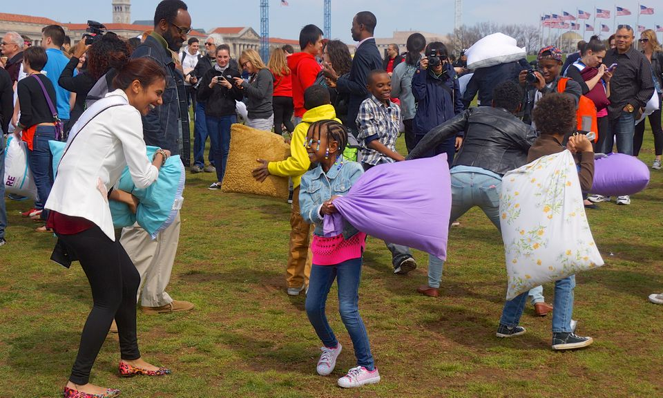 national Pillow Fight Day DC 2014