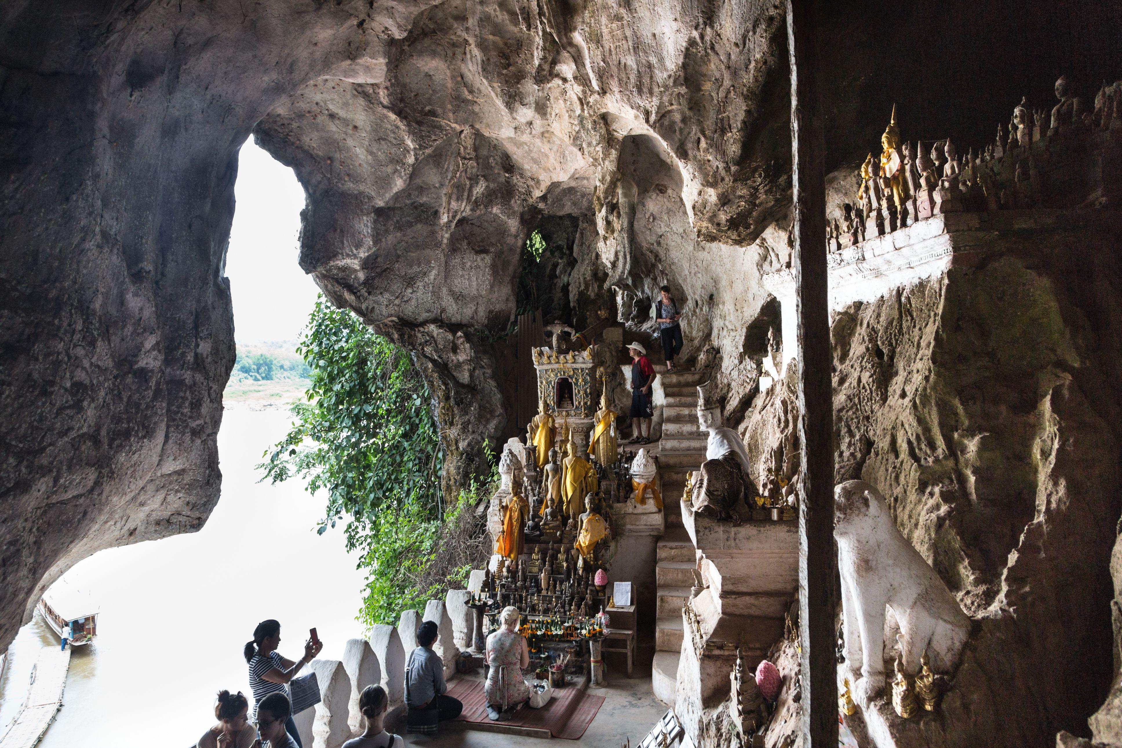 Pak Ou Cave temple in Laos