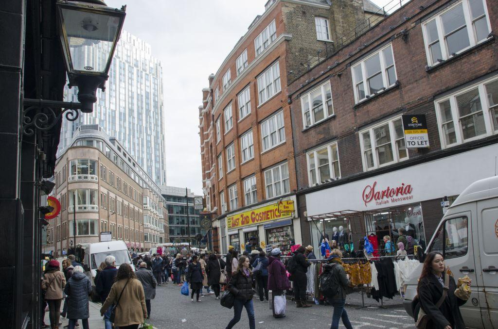 Petticoat Lane Market in London