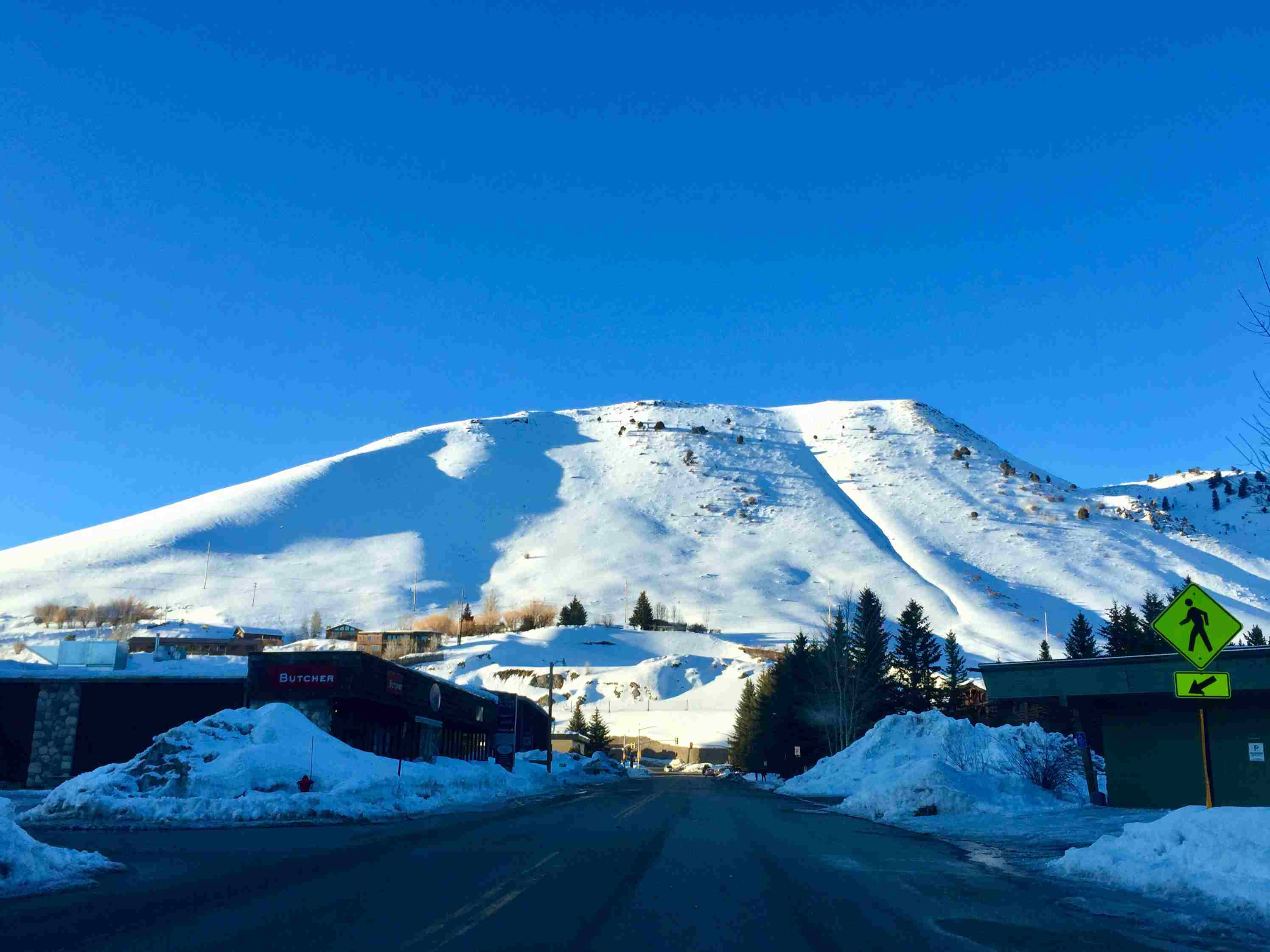 Snow Covered Mountain Against Clear Blue Sky in Jackson, United States