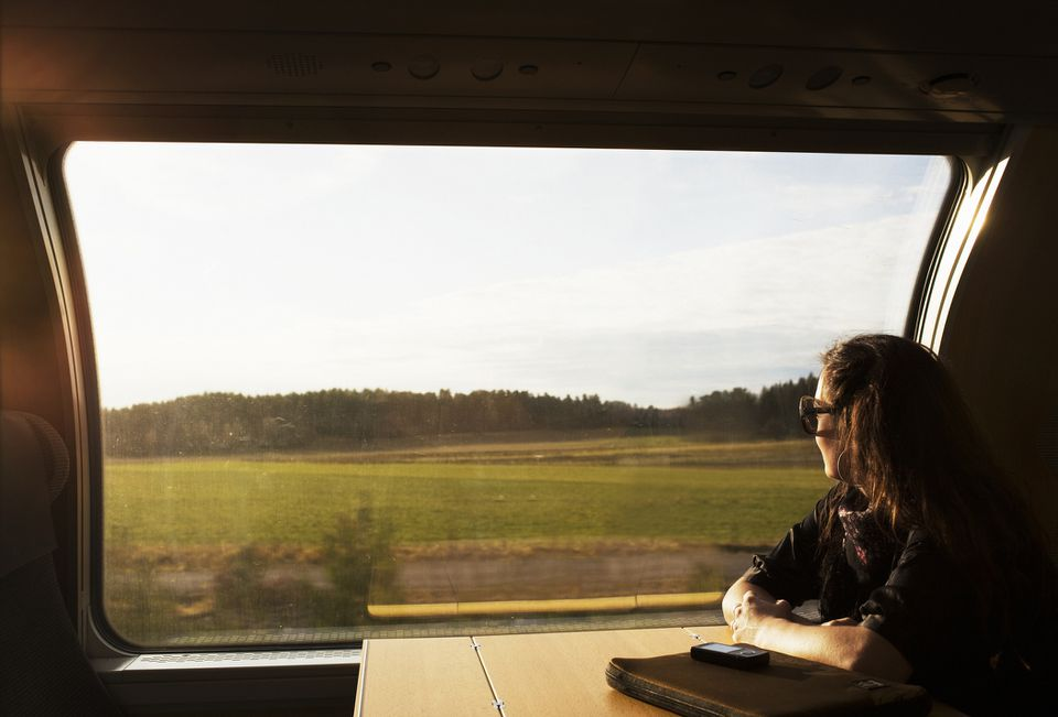 On the train