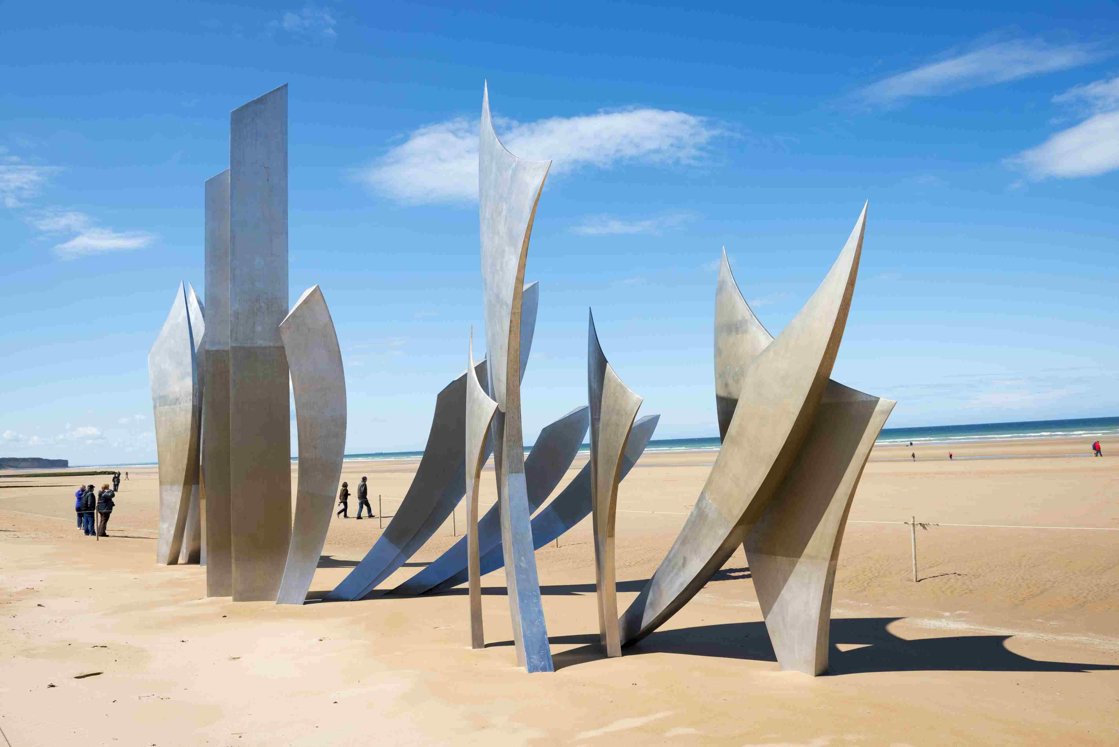 Omaha Beach Les Braves memorial - Normandy, France