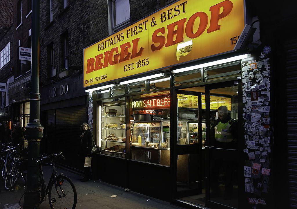 Bagel shop in London