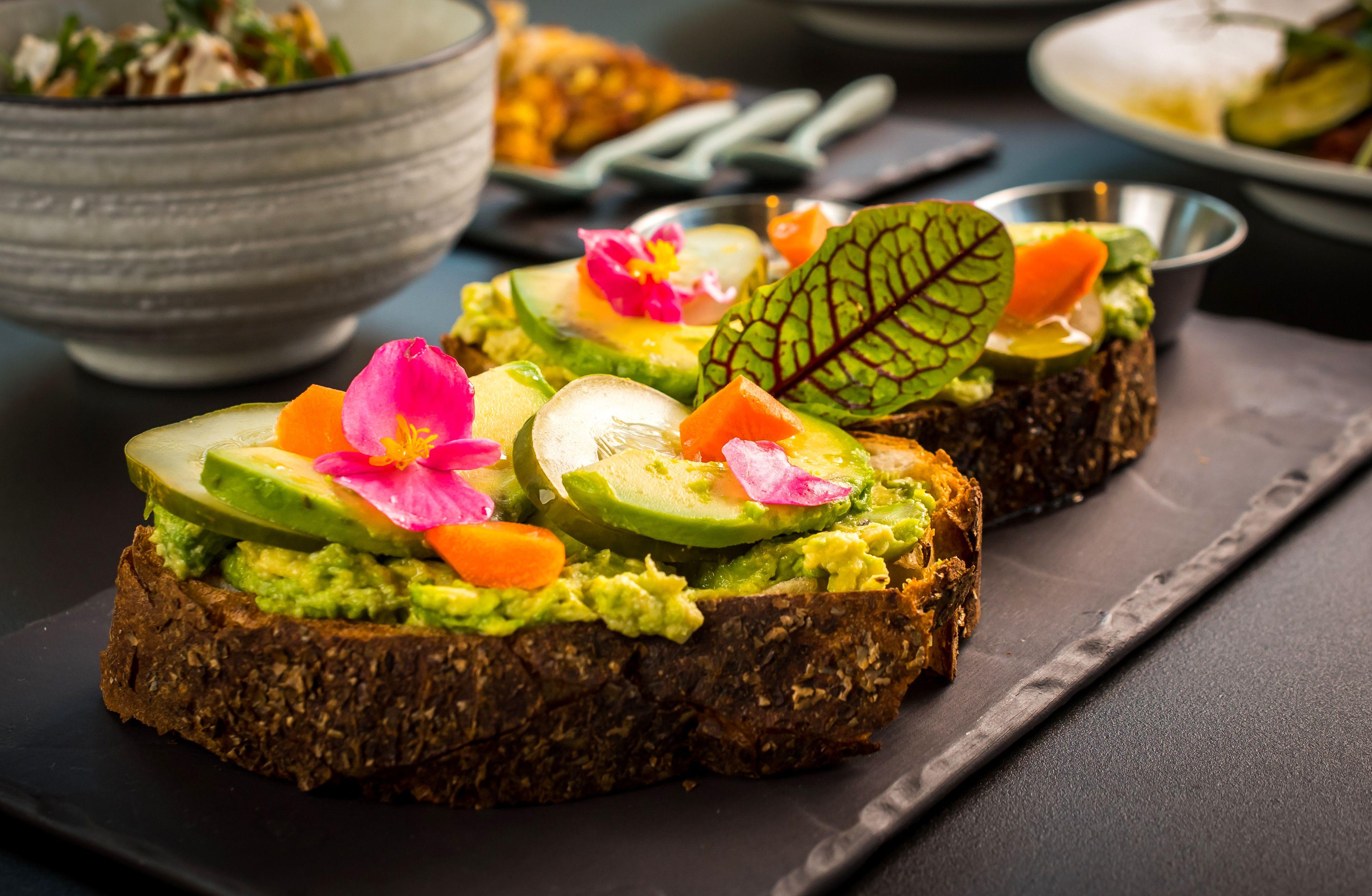 Avocado toast at Planta