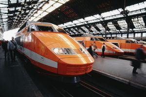 TGV high-speed train in Paris
