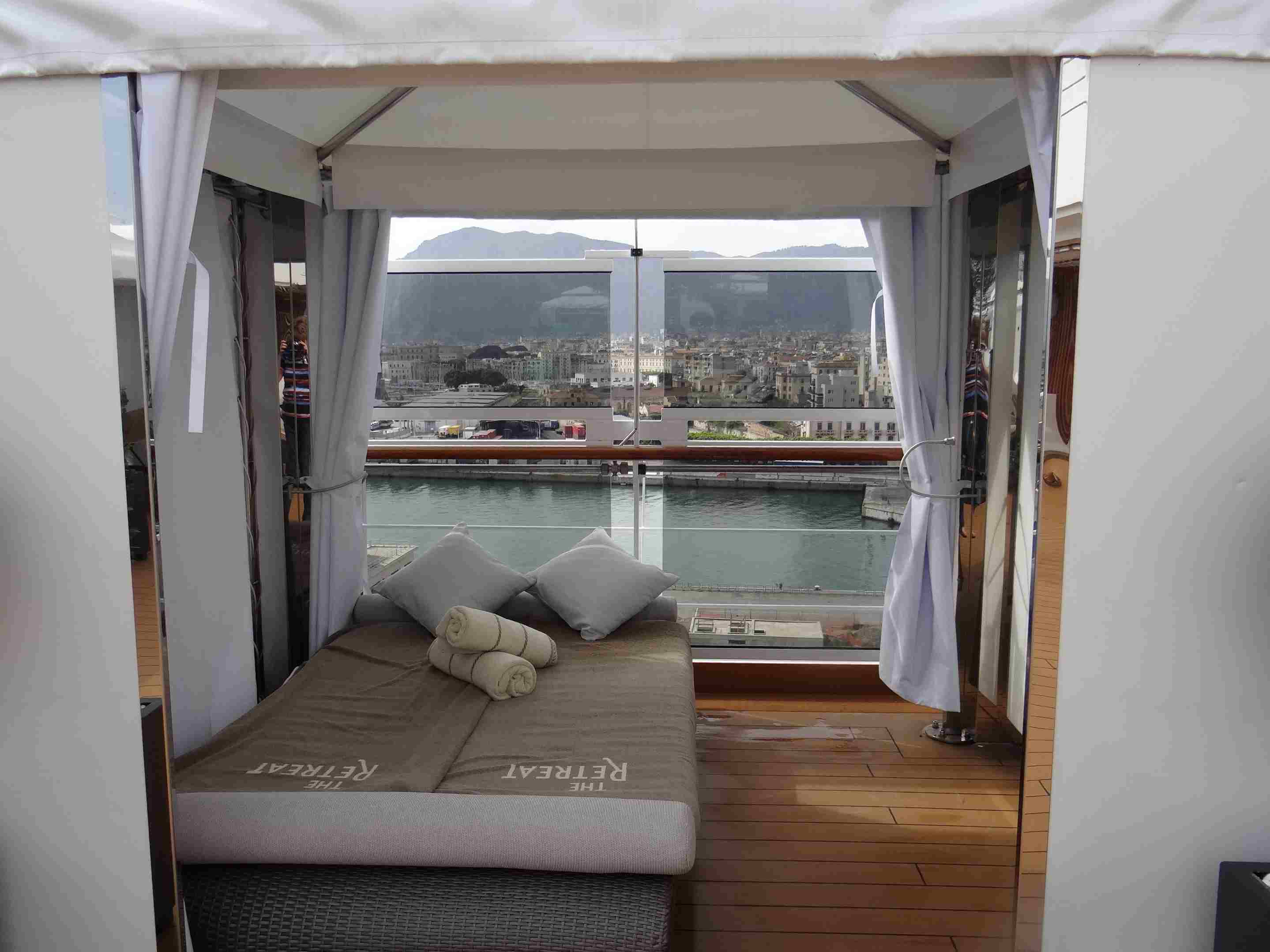 Cabana at The Retreat on the Holland America Koningsdam cruise ship