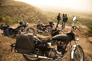 Motorcycle riders in India.
