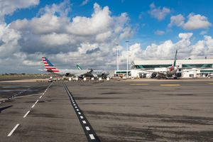 The airfield of the Rome-Fiumicino International Airport