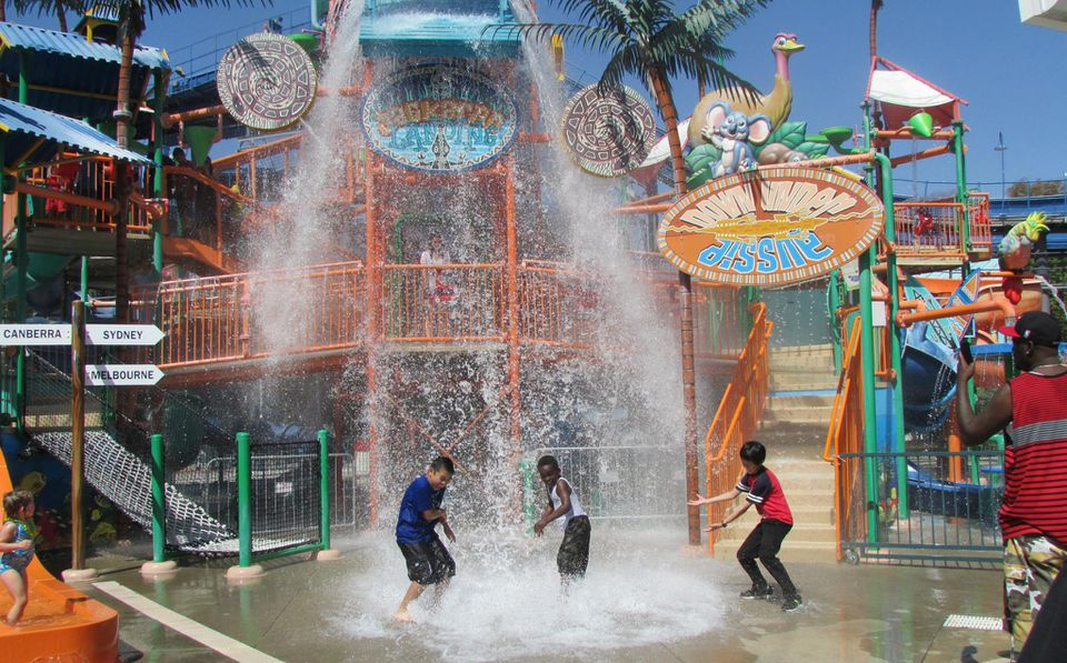Boomerang Bay water park at California's Great America