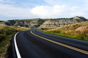 Highway Road Through Badlands