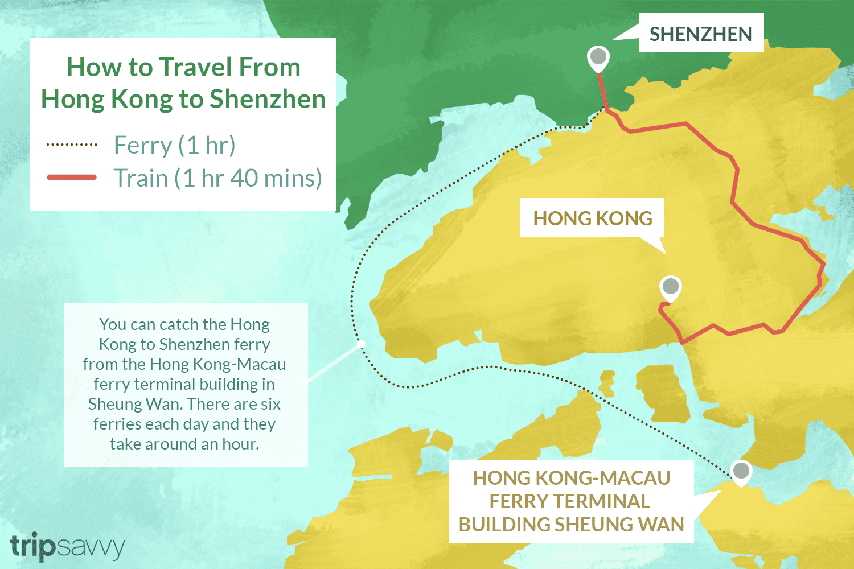 Subway Map Of Hong Kong.The Best Way To Travel From Hong Kong To Shenzhen