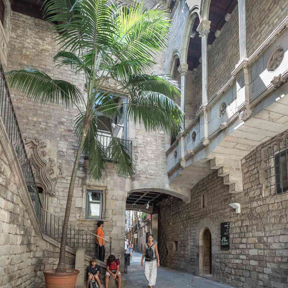 Courtyard at the Picasso Museum in Barcelona