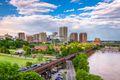 Richmond, Virginia, USA downtown skyline on the James River