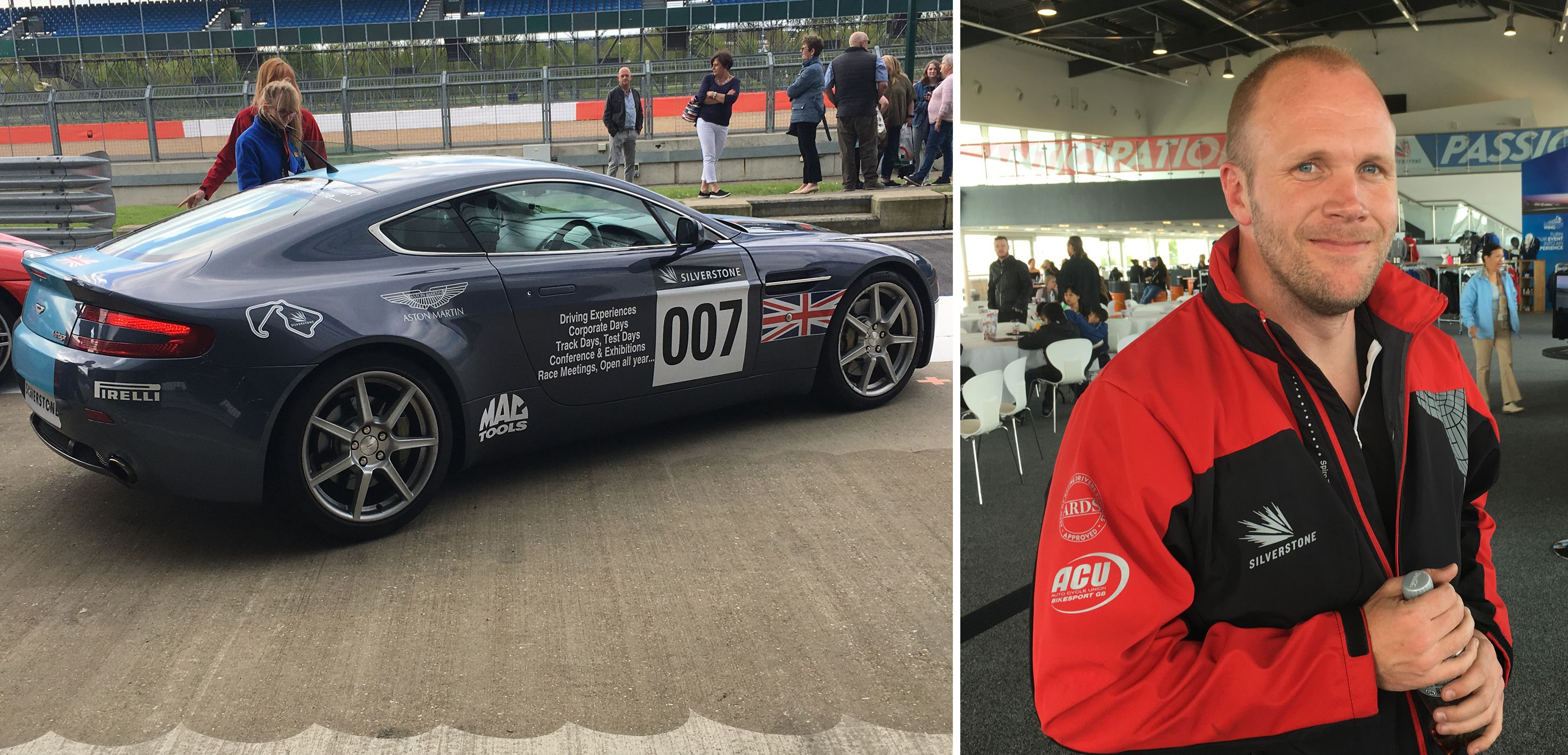 Silverstone thrill rides on the Formula 1 Track