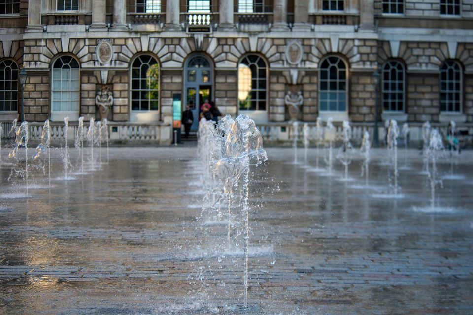 The Edmond J. Safra Fountain Court is at the heart of Somerset House, London and is a contemporary installation of water and music operational in Spring and Summer.