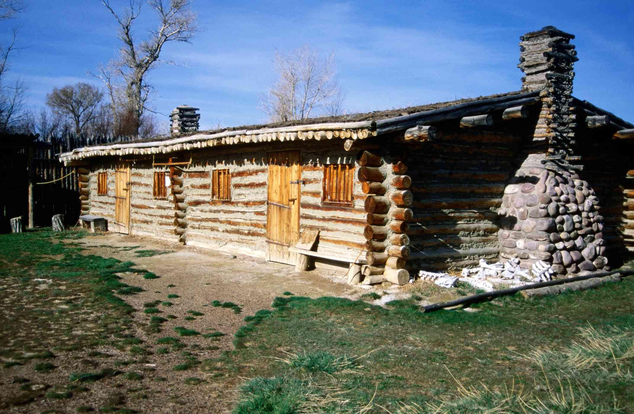 Log house at Fort Bridger State Historic Site