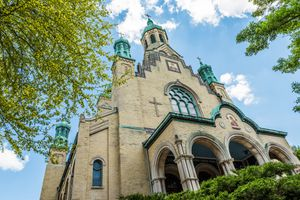 St. Nicholas Ukrainian Catholic Cathedral in village