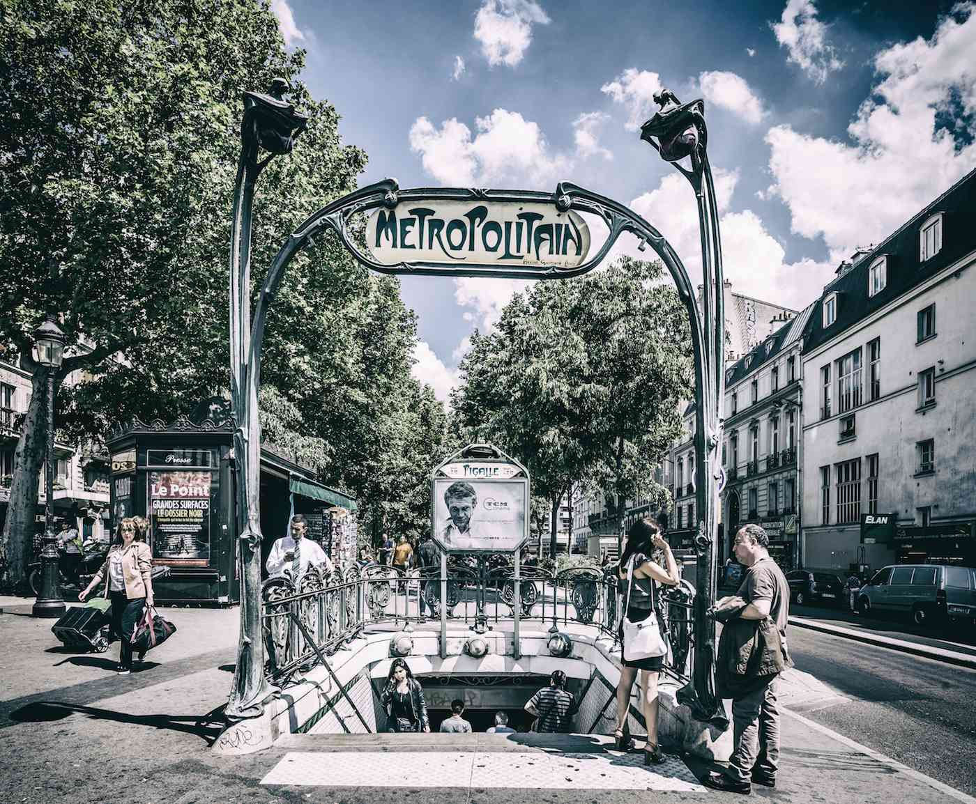 A sunny day in Pigalle, Paris