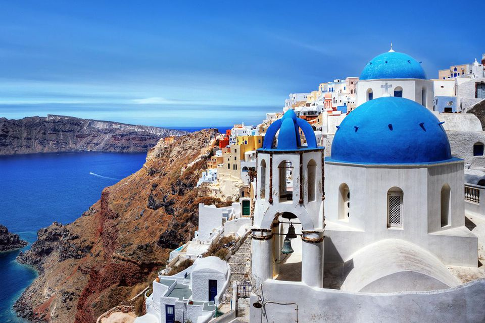 Village of Oia in Santorini, Greece