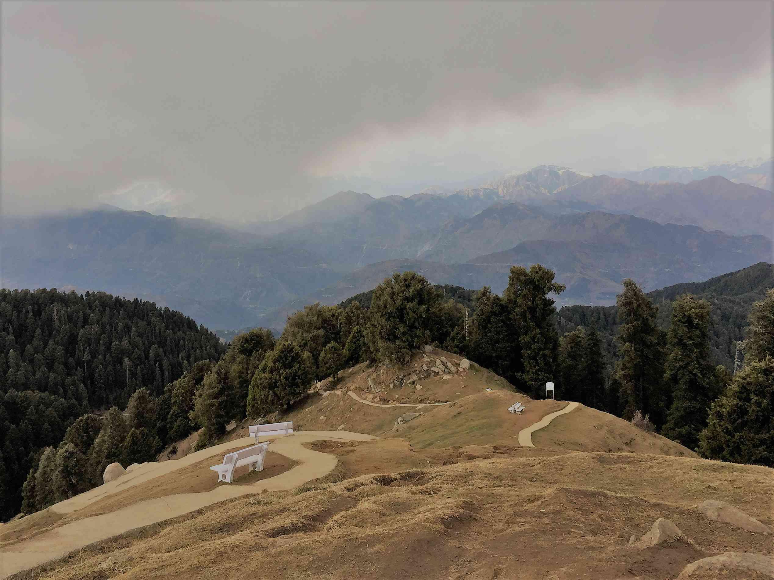 Mountain range,Dainkund peak Dalhousie,India