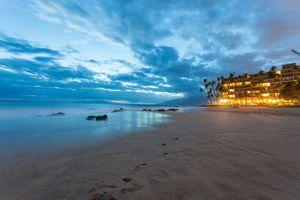 Maui beach at dusk