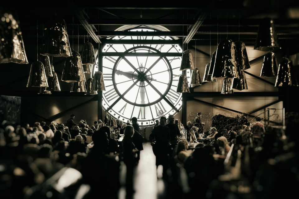 A crowded event at the Musée d'Orsay, Paris