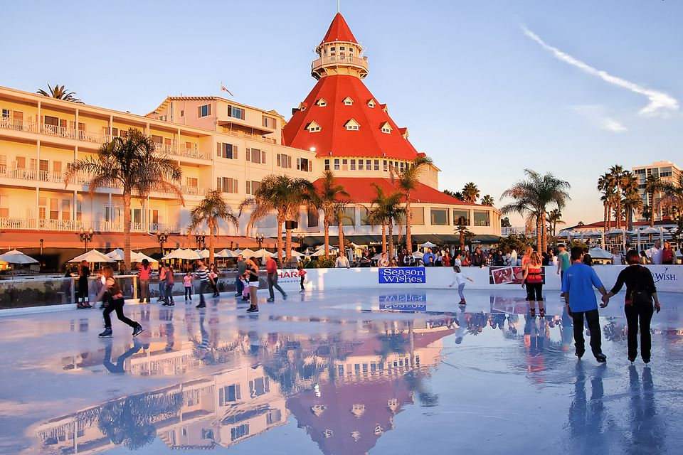 Ice Skating at Hotel Del Coronado