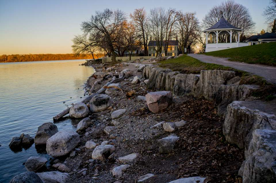 Niagara-on-the-Lake frente a Old Fort Niagara en Queen's Royal Park
