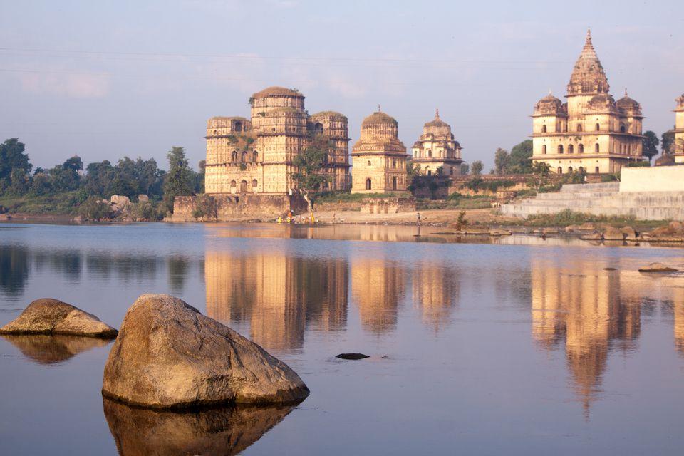 Orchha temples in Madhya Pradesh, India